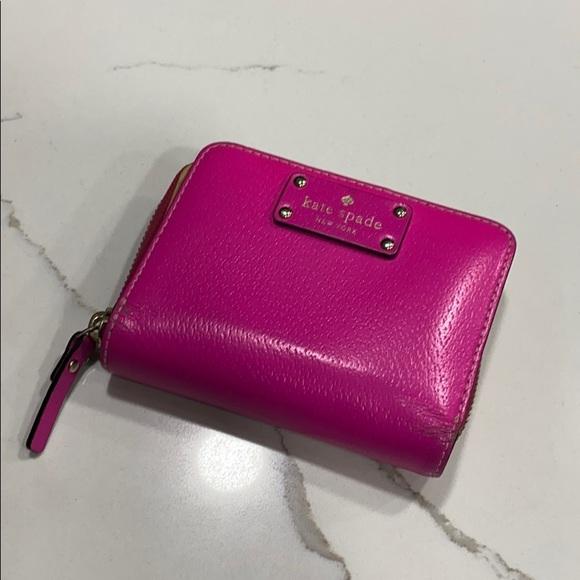 Kate Spade Neon Pink Folded Wallet